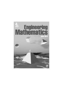 Engineering Mathematics, Fourth Edition
