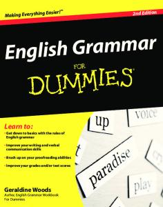 English Grammar For Dummies, 2nd Ed