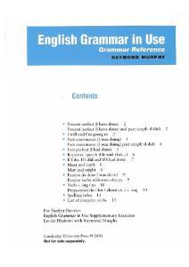 English grammar in use. Grammar reference