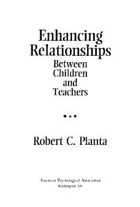 Enhancing Relationships Between Children and Teachers