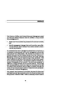 Enlisted Management Policies and Practices: A Review of the Literature