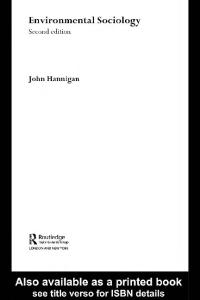 Environmental Sociology: A Scoial Constructionist Perspective (Environment and Society)