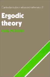 Ergodic Theory (Cambridge Studies in Advanced Mathematics)