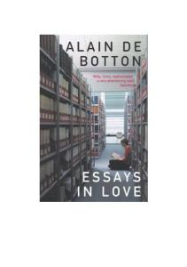 Essays in Love a Novel