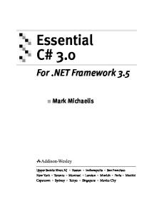 Essential C# 3.0: For .NET Framework 3.5