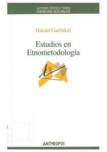 Estudios de Etnometodología (Autores, Textos y Temas. Ciencias Sociales ; 52)