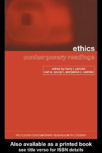 Ethics - Contemporary Readings
