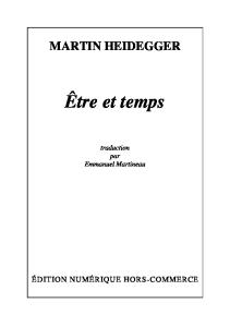 EМ'tre et temps (traduction Martineau)