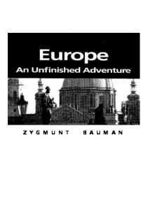 Europe: An Unfinished Adventure (Themes for the 21st Century)
