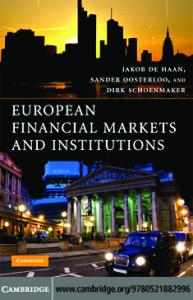 European Financial Markets and Institutions
