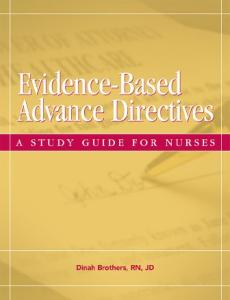Evidence-Based Advance Directives: A Study Guide for Nurses