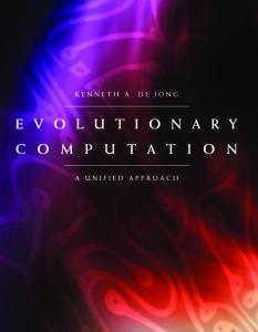 Evolutionary computation: a unified approach