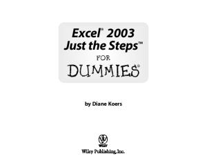 Excel 2003 Just the Steps For Dummies (For Dummies (Computer Tech))