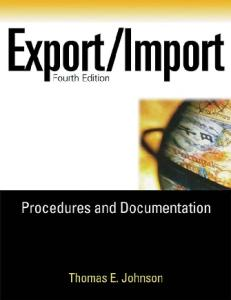 Export Import Procedures and Documentation, fourth edition