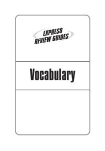 Express Review Guides: Vocabulary