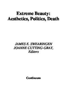 Extreme Beauty: Aesthetics, Politics, Death