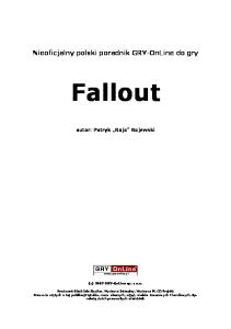 Fallout Poradnik Gry-Online
