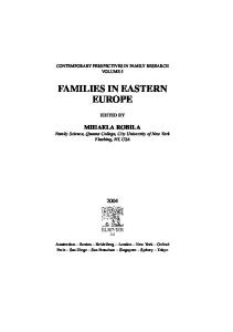 Families in Eastern Europe