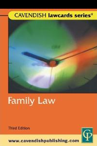 Family LawCards 3ED (Lawcards)