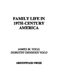 Family Life in 19th-Century America (Family Life through History)