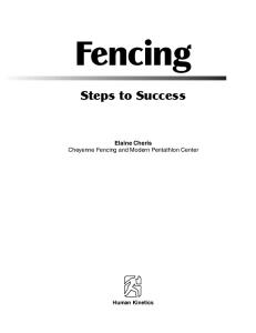 Fencing: Steps to Success