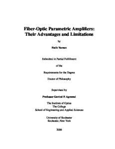 Fiber-optic parametric amplifiers: Their advantages and limitations