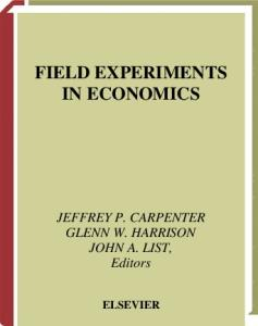Field experiments in economics