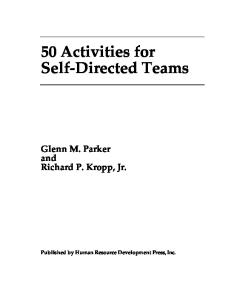 Fifty Activities for Self-Directed Teams (50 Activities Series)