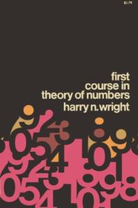 First Course in Theory of Numbers