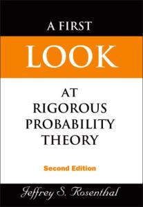 First Look at Rigorous Probability Theory