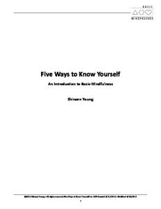 Five Ways to Know Yourself: An Introduction to Basic Mindfulness