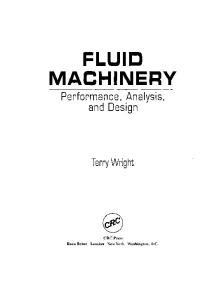 Fluid machinery: performance, analysis, and design