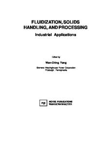 fluidization solids handling and processing