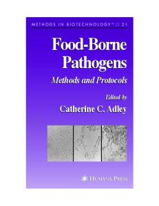 Food-Borne Pathogens: Methods and Protocols (Methods in Biotechnology)