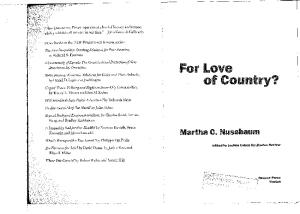 For Love of Country?