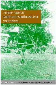 Forager-Traders in South and Southeast Asia: Long-Term Histories