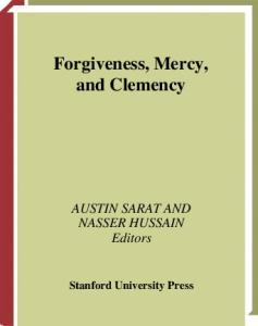 Forgiveness, Mercy, and Clemency