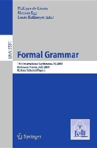 Formal Grammar - FG 2009