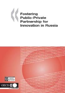 Fostering public-private partnership for innovation in Russia