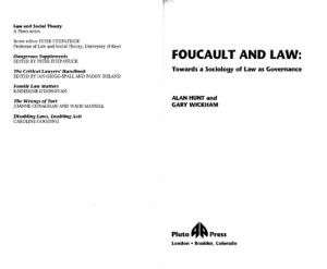 Foucault and the Law: Towards a Sociology of Law As Governance (Law and Social Theory)