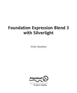 Foundation Expression Blend 3 with Silverlight (Foundations)