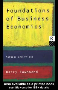 Foundations of Business Economics: Markets and Prices