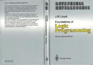 Foundations of Logic Programming (Symbolic Computation Artificial Intelligence)