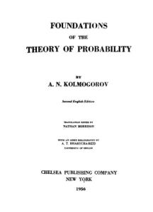 Foundations of the Theory of Probability, Second English Edition