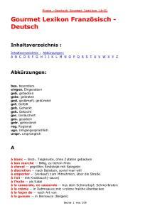 Französisch-Deutsch
