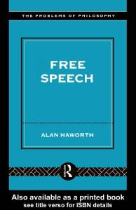 Free Speech (Problems of Philosophy)