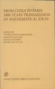 From China to Paris: 2000 Years Transmission of Mathematical Ideas