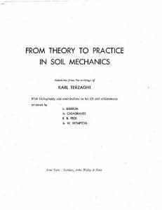 From Theory to Practice in Soil Mechanics