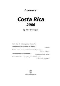 Frommer's Costa Rica 2006