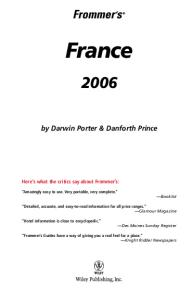 Frommer's France 2006 (Frommer's Complete)